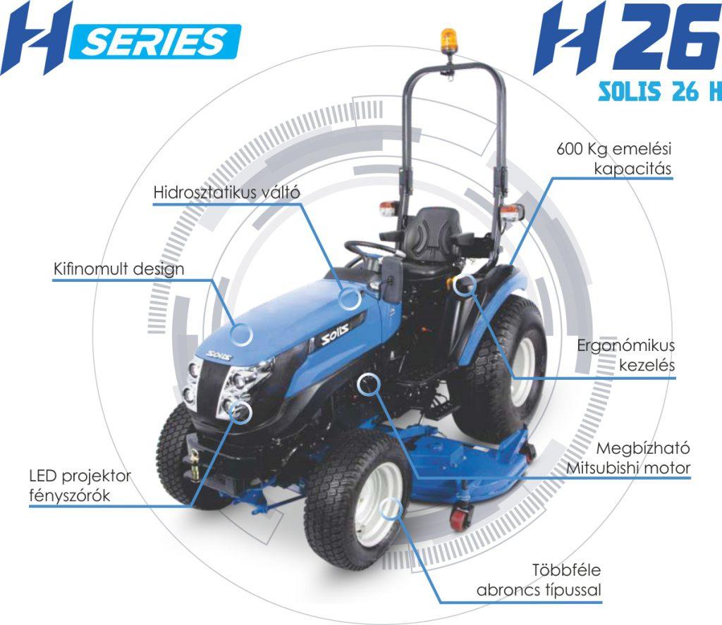 Új hidrosztatikus Solis 26 HST